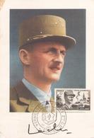 CARTE LECLERC OBLITERATION KERMESSE AUX ETOILES 2 DB PARIS DU 28 JUIN 1952 - Marcophilie (Lettres)