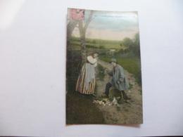 A467. CPA. La Vie Au Champ. L'Omelette Improvisée.  Beau Plan Animé. écrite & Voyagée 1906 - Cultures