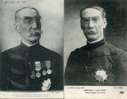 Lot De 2 CPA - Le Général GALLIENI, Gouverneur De Paris - Guerre 1914-18