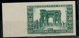 ALGERIE       N°  YVERT      91 (1)  (Vert ) Non Dentelé Pli Au Dos    NEUF SANS GOMME       ( SG   1/09 ) - Nuovi