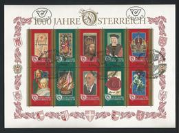 Austria 1996 Millenium Sheet Y.T. 2024/2033 (0) - Blocs & Feuillets