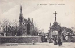 GOUESNOU - L'Eglise Et L'Arc De Triomphe - Animé - France
