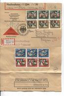 2893/ BRD Einschreiben - Nachnahme 4 DM 05 Pf C.Frankfurt 1963 N.Belgien Brüssel - Briefe U. Dokumente