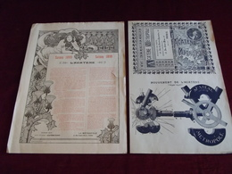 2 Publicités ACATENE METROPOLE 1898 ET 1899  ( Cycles . Vélos . Bicyclettes ) - Publicités