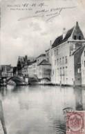 CPA   BELGIQUE--VIEUX PONT SUR LA DYLE---1907---TAMPON VIOLET A. VERHEYEN AVOCAAT---MECHELEN - Mechelen