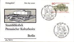 "Westberlin Schmuck-FDC Mi.577 ""Eröffnung Der Staatsbibliothek Preußischer Kulturbesitz, Berlin"" ESSt 16.11.78 BERLIN 12 - [5] Berlin"