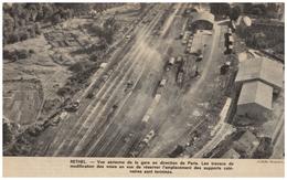 1963 - Iconographie - Rethel (Ardennes) - Vue Aérienne De La Gare - FRANCO DE PORT - Vieux Papiers