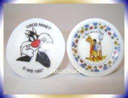 Assiettes BD ... 2 Fèves ... Ref AFF : 3-1997 ...( Pan 0040-7) - Strips
