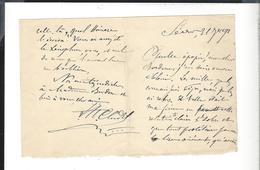 LEON CLADEL ( 1835 - 1892 ) Autographe 2 P.   Lettre Au Général Bordone ( Lecture Des Mille  Garibaldi  ... ) - Autographs