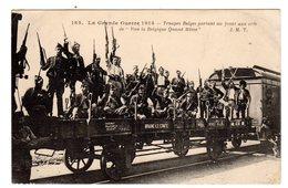 CPA Militaria Grande Guerre 1914 Braine Le Comte Belgique Hainaut  Troupes Belges Partant Au Front éditeur J.M.T. N°185 - Braine-le-Comte