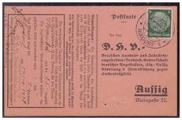 Böhmen Und Mähren (00007645) Postkarte Deutsche Handels Und Industrieangestellten Verband Assig Mit Appotierten Stempel - Bohemia & Moravia