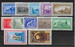 TURQUIE - 1953 - YVERT N° 1175/1186 ** MNH (TRES LEGERES ROUSSEURS) - COTE = 50 EUR. - - Unused Stamps