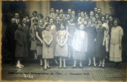 STENOGRAPHIE DUPLOYE ENSEIGNEMENT PEDAGOGIE CALLYGRAPHIE FEDERATION DE L'EST CONCOURS 1925 CARTE PHOTO - Schools
