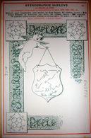 STENOGRAPHIE DUPLOYE ENSEIGNEMENT PEDAGOGIE CALLYGRAPHIE ART NOUVEAU - Escuelas
