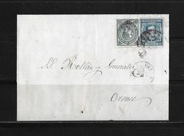 1876 SPANIEN → Brief Valencia Nach Orense - Lettres & Documents