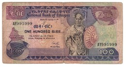 Ethiopia 100 Birr 1991 Pick 45 Signature 3 - Ethiopia