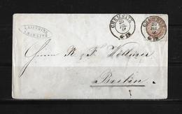 1866 ALTDEUTSCHLAND SACHSEN → Brief Chemnitz Nach Berlin - Saxe