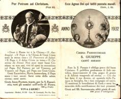 Papa Pio XI Pasqua 1932, Santino Pieghevole, Cantù Asnago Parrocchia Di S. Giuseppe - Religione & Esoterismo
