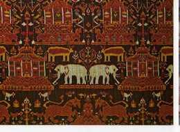 68 MULHOUSE Musee De L'Impression Sur Etoffes Ikat De Trame Cambodge XIX°s L'elephant Bleu - Mulhouse