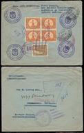 GUATEMALA. 1926. S. Antonio Suchitepequez - USA. Registered Multifkd Reverse Env. VF. - Guatemala