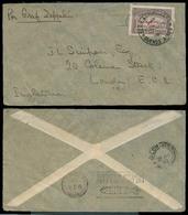 Argentina - XX. 1932 (11 Oct). Bs As - UK (21 Oct). Fkd Zeppelin 90c Ovptd Issue On Env Via Friedrichafen (19 Oct). Scar - Argentina