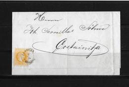 1869 ÖSTERREICH KROATIEN → Brief Vukovar Nach Kostainica - Lettres & Documents