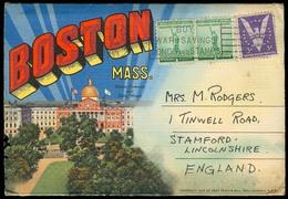 USA - XX. 1942. Boston - UK. Multiphoto Colorful And VF. - United States