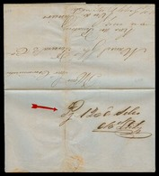 "BRAZIL. 1858 (12 April). Atibaia - RJ. Stampless. EL Prepaid Cash Mns. ""Pg 120 Do Selho"" + Signature. No Stamps Availabl - Brazil"