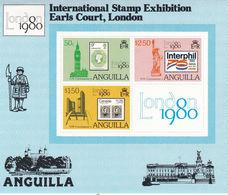 ANGUILLA, 1980 London 1980 S/s MNH - Anguilla (1968-...)