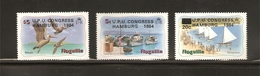ANGUILLA, 1984 19th U.P.U. Congress, Hamburg 3v MNH - Anguilla (1968-...)