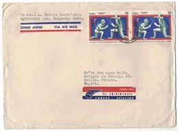 YN66  Cuba 1970 Letter By Air From Holguia To Oviedo Spain - XI Juegos Centroamericanos Y Del Caribe - Storia Postale