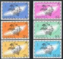 ANGUILLA, 1974 UPU Centenary 6v MNH - Anguilla (1968-...)