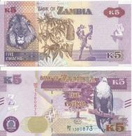 Zambia - 5 Kwacha 2018 UNC Lemberg-Zp - Zambie