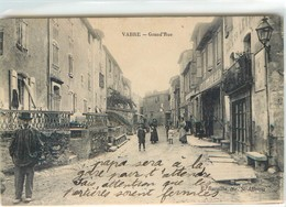 CPA 12 Aveyron Vabres Grand Rue Café Du Puech Léger Pli Haut Gauche Recto Vabre - Vabres