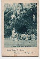 NOTRE DAME DE LOURDES  LES PETITS A LA GROTTE  CALENDRIER 1930  DOUBLE VOLET - Devotion Images