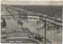W1646 Porto San Giorgio (Fermo) - Panorama Della Spiaggia - Beach Strand Playa Plage / Viaggiata 1955 - Italia
