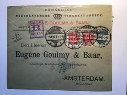 Denmark  RARE REGISTERED Cover KJØBENHAVN 1900 > NETHERLANDS (Dänemark BI-COLOURED Amsterdam Brief - Lettere