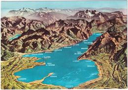 Lago Di Garda - Desenzano, Lazise, Malcesine, Riva, Maderno, Salo Etc. - Carte/Map - Brescia