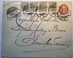 Denmark  RARE Cover CHARLOTTENLUND 1901 > NETHERLANDS (Dänemark BI-COLOURED Postal Stationery Amsterdam Brief - Briefe U. Dokumente