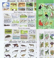 Denmark WWF 1982 - 1987.  6 Full Unused MNH (**) Sheets With 30 Labels;   ** Special Offer ** - W.W.F.