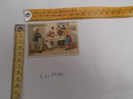 Chromos Teinture LA KABILINE - Repasseuse Calendrier Au Dos Voir Photos - Chromos