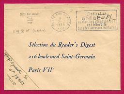 Enveloppe En Franchise Militaire - Poste Aux Armées - TOE - Secteur Postal 73 213 - Marcophilie (Lettres)