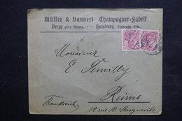ALLEMAGNE - Enveloppe Commerciale De Hambourg Pour Reims En 1901 - L 24365 - Allemagne