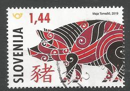 SI 2019-1352 CHINES NEW YEAR PIGS, SLOVENIA, 1 X 1v, Used - Chines. Neujahr