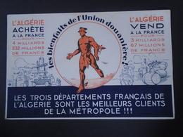 BUVARD - PEU COURANT - ALGERIE, LES BIENFAITS DE L'UNION DOUANIERE - - Blotters