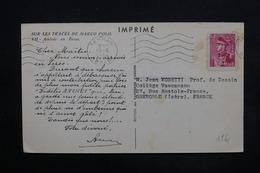 IRAN - Affranchissement De Téhéran Sur Carte Commerciale ( Papeterie D 'Arches ) Pour Grenoble En 1954 - L 24374 - Iran