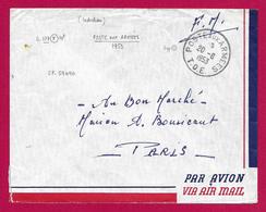 Enveloppe En Franchise Militaire - Poste Aux Armées - TOE - Secteur Postal 59 490 - Marcophilie (Lettres)