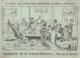 Rare Chromo Banquet De St Charlemagne Ou Est Le Saint - Other