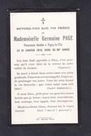 Image Pieuse Souvenir Deces Germaine Page Le 21 Janvier 1918 Dans Sa 25è Année  Pagny La Ville - Décès