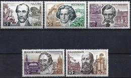 France 1963 - Mi 1432/36 - YT 1382/86 ( Famous People ) MH* Complete Issue - France